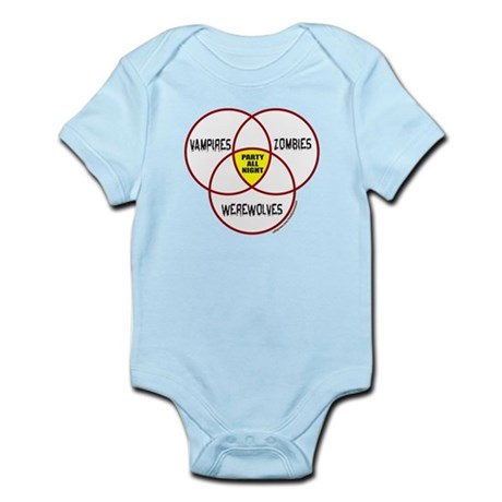 PARTY ALL NIGHT Infant Bodysuit