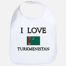 I Love Turkmenistan Bib