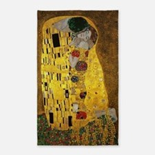 Gustav Klimt The Kiss 3'x5' Area Rug