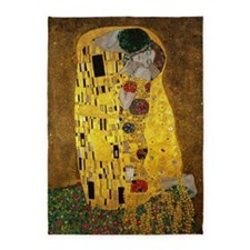 Gustav Klimt The Kiss 5'x7'Area Rug