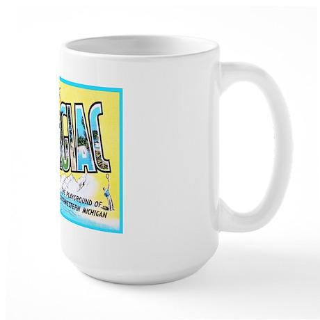 Dowagiac Michigan Greetings Large Mug