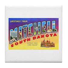 Mitchell South Dakota Greetings Tile Coaster