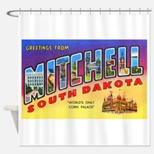 Mitchell South Dakota Greetings Shower Curtain