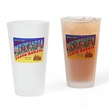 Mitchell South Dakota Greetings Drinking Glass