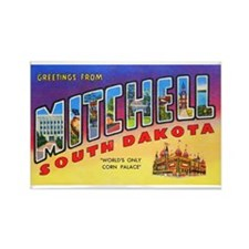 Mitchell South Dakota Greetings Rectangle Magnet