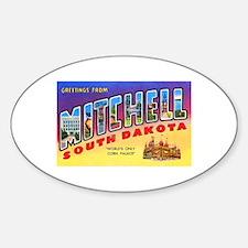 Mitchell South Dakota Greetings Sticker (Oval)