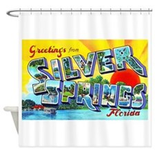 Silver Springs Florida Greetings Shower Curtain