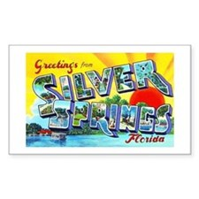 Silver Springs Florida Greetings Decal