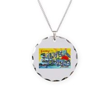 Silver Springs Florida Greetings Necklace Circle C
