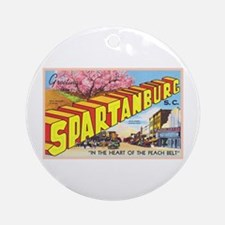 Spartanburg South Carolina Ornament (Round)