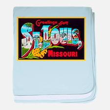 St Louis Missouri Greetings baby blanket