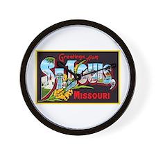 St Louis Missouri Greetings Wall Clock