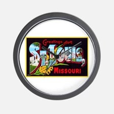 St Louis Missouri Greetings Wall Clock