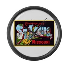 St Louis Missouri Greetings Large Wall Clock
