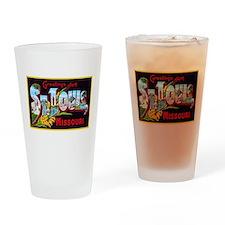 St Louis Missouri Greetings Drinking Glass