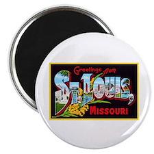 St Louis Missouri Greetings Magnet