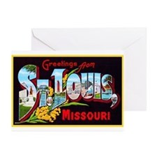 St Louis Missouri Greetings Greeting Cards (Pk of