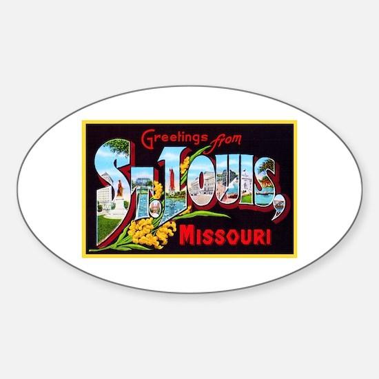 St Louis Missouri Greetings Sticker (Oval)