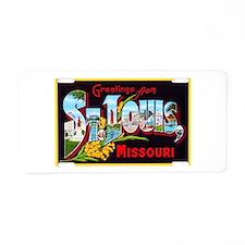 St Louis Missouri Greetings Aluminum License Plate