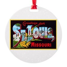 St Louis Missouri Greetings Ornament