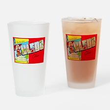 Toledo Ohio Greetings Drinking Glass