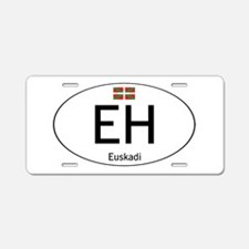 Basque white Aluminum License Plate