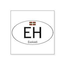 "Basque white Square Sticker 3"" x 3"""