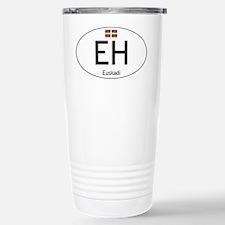 Basque white Stainless Steel Travel Mug