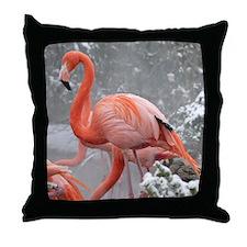 Flamingo Profile Throw Pillow