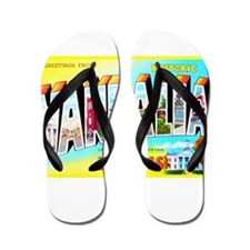 Vandalia Illinois Greetings Flip Flops
