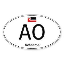 Car code Maori White Decal