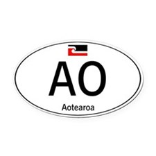 Car code Maori White Oval Car Magnet