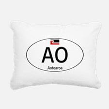Car code Maori White Rectangular Canvas Pillow