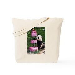 Panda With Cake Tote Bag