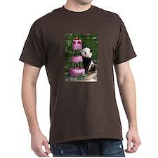 Panda With Cake Dark T-Shirt