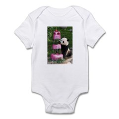 Panda With Cake Infant Bodysuit