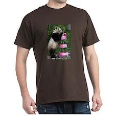 Panda Standing With Cake Dark T-Shirt
