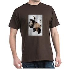 Panda Playing in Snow Dark T-Shirt