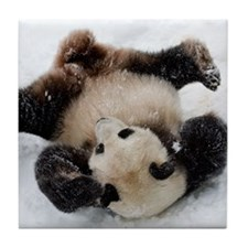 Panda in Snow Tile Coaster