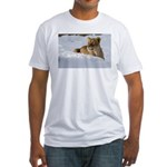 Female Lion in Snow Fitted T-Shirt