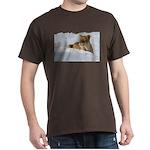 Female Lion in Snow Dark T-Shirt