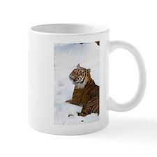Tiger Laying In Snow Mug