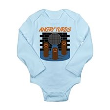 Angry Turds Long Sleeve Infant Bodysuit