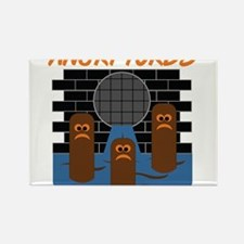 Angry Turds Rectangle Magnet