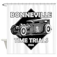 Bonneville Time trials-1950.png Shower Curtain
