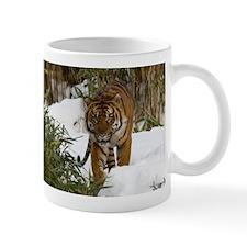 Tiger Walking in Snow Mug
