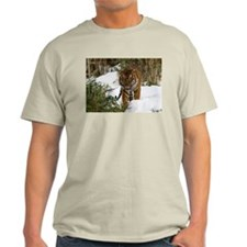 Tiger Walking in Snow Light T-Shirt