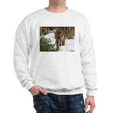 Tiger Walking in Snow Sweatshirt