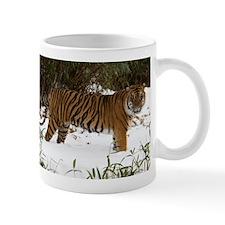 Tiger Standing in Snow Mug