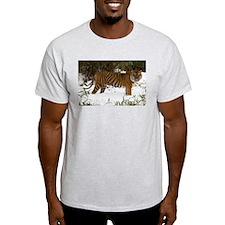 Tiger Standing in Snow Light T-Shirt